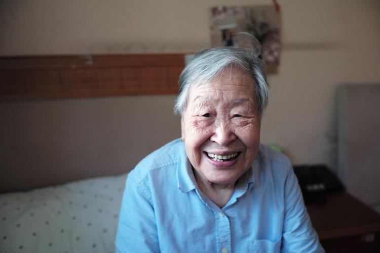 elderly adult smiling